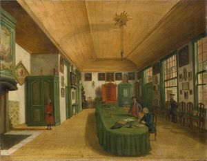 Paulus Constantin La Farg.. - Interior of the hall of t..