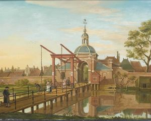 Paulus Constantin La Farg.. - View of the Koepoort in L..