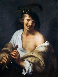 Paulus Moreelse - A Shepherd with a Pipe