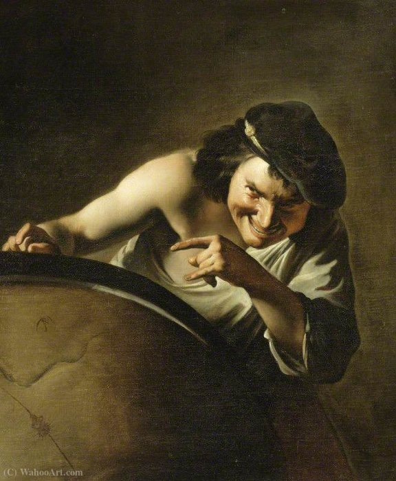 Democritus by Paulus Moreelse (1571-1638, Netherlands) | Art Reproduction | ArtsDot.com