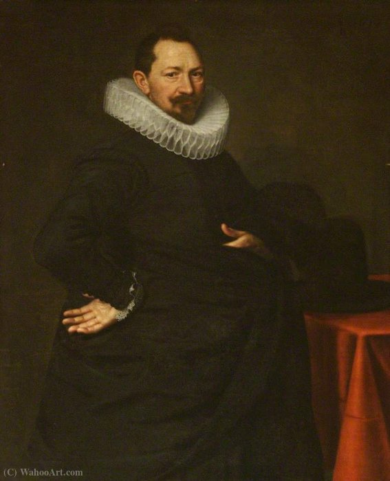 Portrait of a Young Man by Paulus Moreelse (1571-1638, Netherlands)