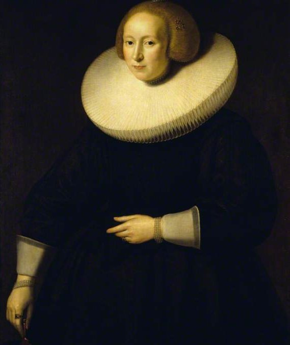 Order Fine Art Print Portrait of an Unknown Lady in Black, with a Broad Cartwheel Ruff by Paulus Moreelse (1571-1638, Netherlands) | ArtsDot.com | Order Textured Print Portrait of an Unknown Lady in Black, with a Broad Cartwheel Ruff by Paulus Moreelse (1571-1638, Netherlands) | ArtsDot.com