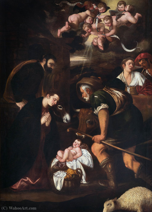 Adoration of the Shepherds by Pedro Orrente (1580-1645, Spain)