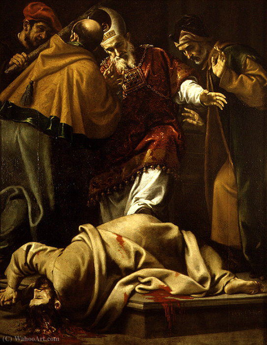 Martyrdom of St. James the Less by Pedro Orrente (1580-1645, Spain)