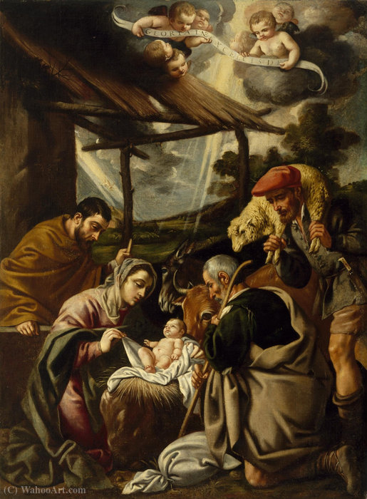 The Adoration of the Shepherds by Pedro Orrente (1580-1645, Spain)