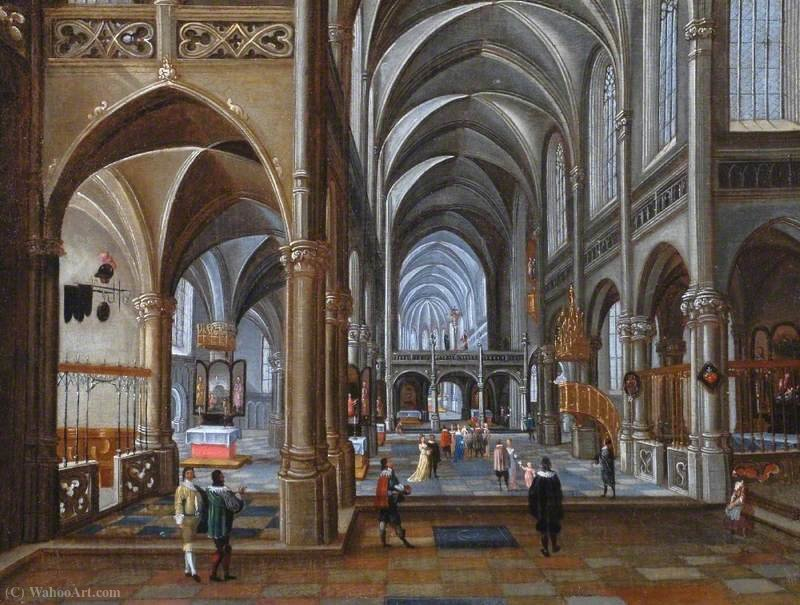 Interior of a Catholic Church by Peeter Neeffs The Elder (1614-1652, Belgium)
