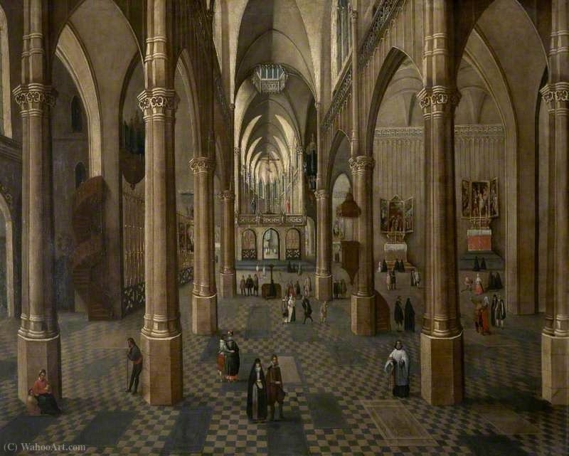 Interior of Antwerp Cathedral by Peeter The Elder Neeffs (1578-1656, Belgium)
