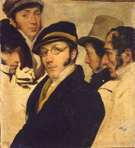 Pelagio Palagi - Self-portrait in a group ..