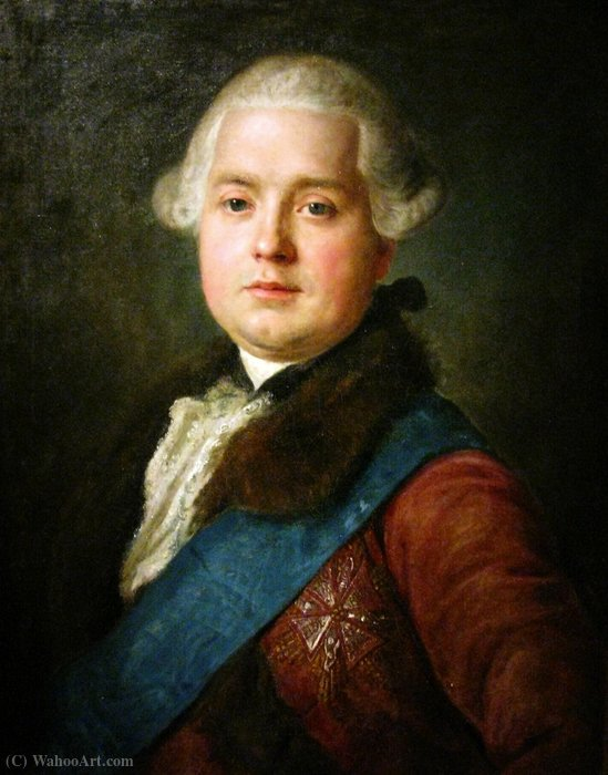 Portrait of Franciszek Michał Rzewuski. by Pietro Antonio Rotari (1707-1762, Italy)