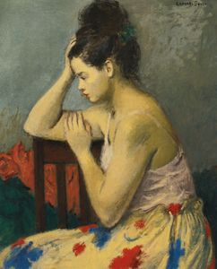 Raphael Soyer - The flowered skirt