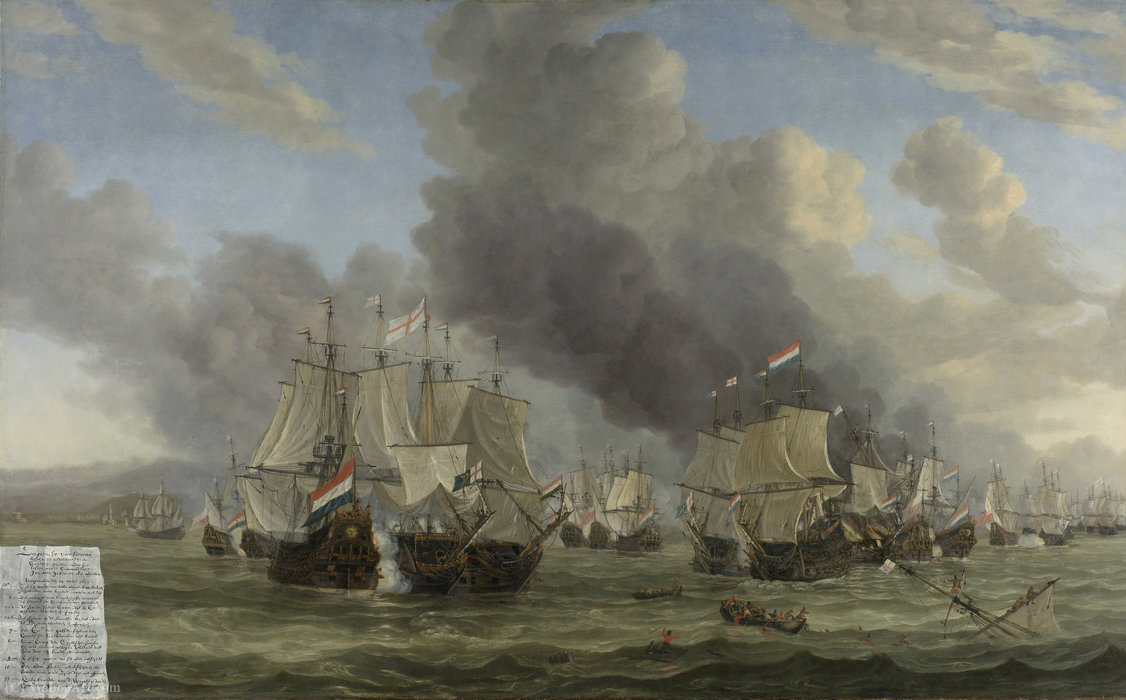 Battle of Leghorn by Reiner Nooms (1623-1667, Netherlands)