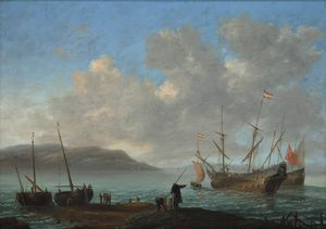 Reiner Nooms - Bay with Sailing Ships