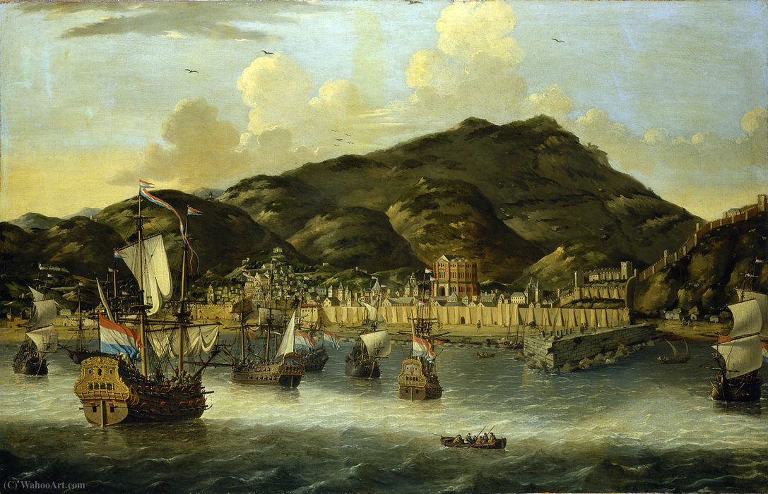 Dutch Ships off Tripoli by Reiner Nooms (1623-1667, Netherlands) | Art Reproduction | ArtsDot.com