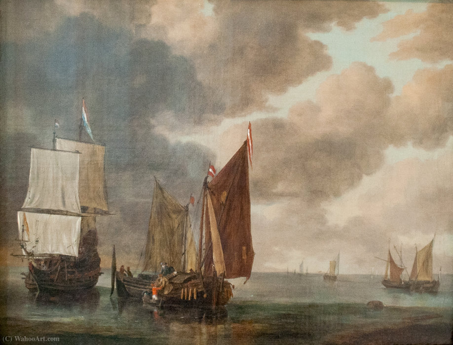 Seascape by Reiner Nooms (1623-1667, Netherlands)