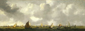 Reiner Nooms - Shipping on the IJ by Amsterdam
