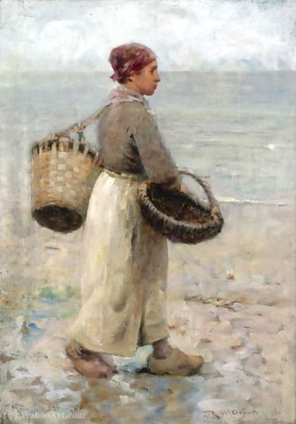 Collecting cockles by Robert Mcgregor (1847-1922, United Kingdom)