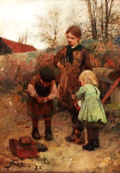 The bird trap by Robert Mcgregor (1847-1922, United Kingdom)