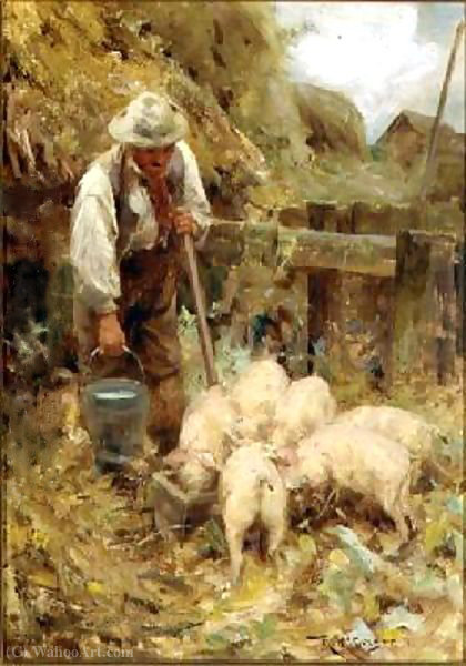 The morning meal by Robert Mcgregor (1847-1922, United Kingdom)