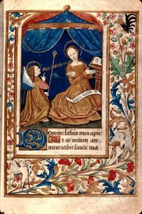 Robinet Testard - The Annunciation, from a ..