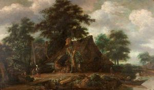Salomon Rombouts - Landscape with Cottages by the..