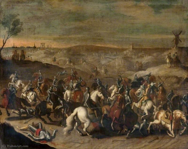 The Battle of Leckerbeetje, (1600) by Sebastian Vrancx (1573-1647, Belgium)
