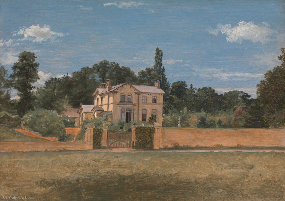 House in Woodbridge, Suffolk by Thomas Churchyard (1737-1823, United Kingdom) | ArtsDot.com