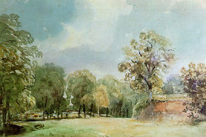 Thomas Churchyard - Landscape painting of Haugh La..