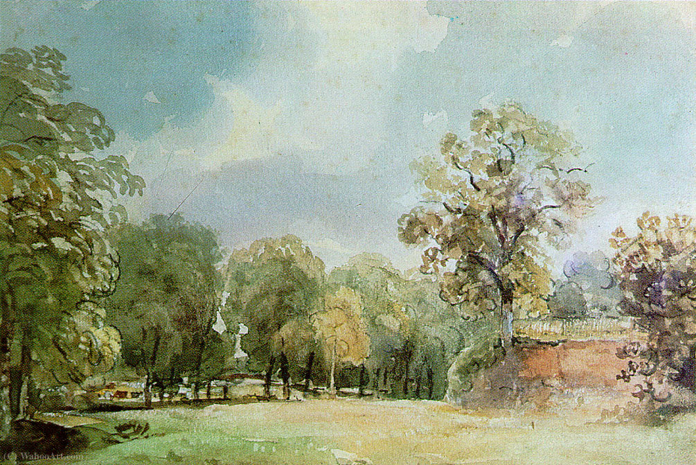 Landscape painting of Haugh Lane by Thomas Churchyard (1520-1604, United Kingdom)