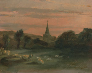 Thomas Churchyard - Stoke poges church (recto)
