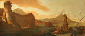 Thomas Wijck - Capriccio of a Seaport with Or..