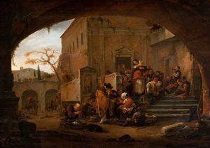 Thomas Wijck - The Poor Being Fed at a Monast..