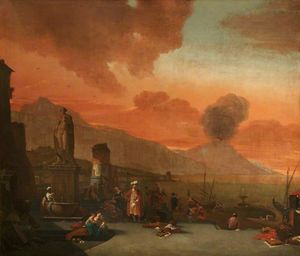 Thomas Wijck - View of the Bay of Naples with..