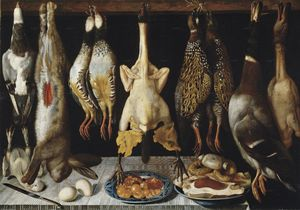 Tomàs Yepes - Still life of birds and hare