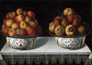 Tomàs Yepes - Two fruit bowls on a table