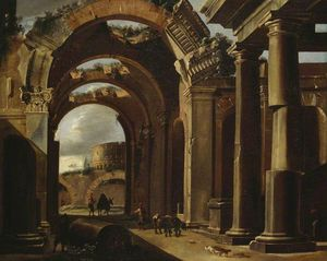 Viviano Codazzi - Classical Ruins with the ..