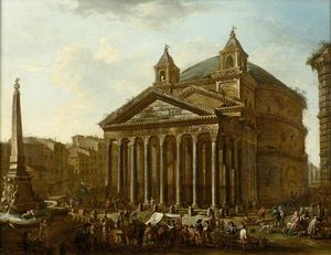 Viviano Codazzi - The pantheon, rome