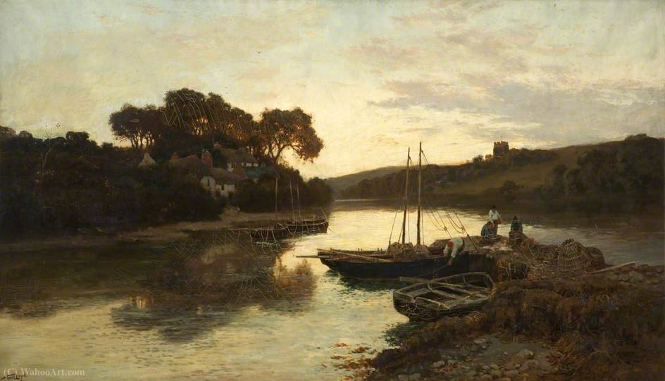 A Mile from the Sea, Newton Ferrers, River Lynter, South Devon by Walker Stuart Lloyd | Museum Art Reproductions Walker Stuart Lloyd | ArtsDot.com