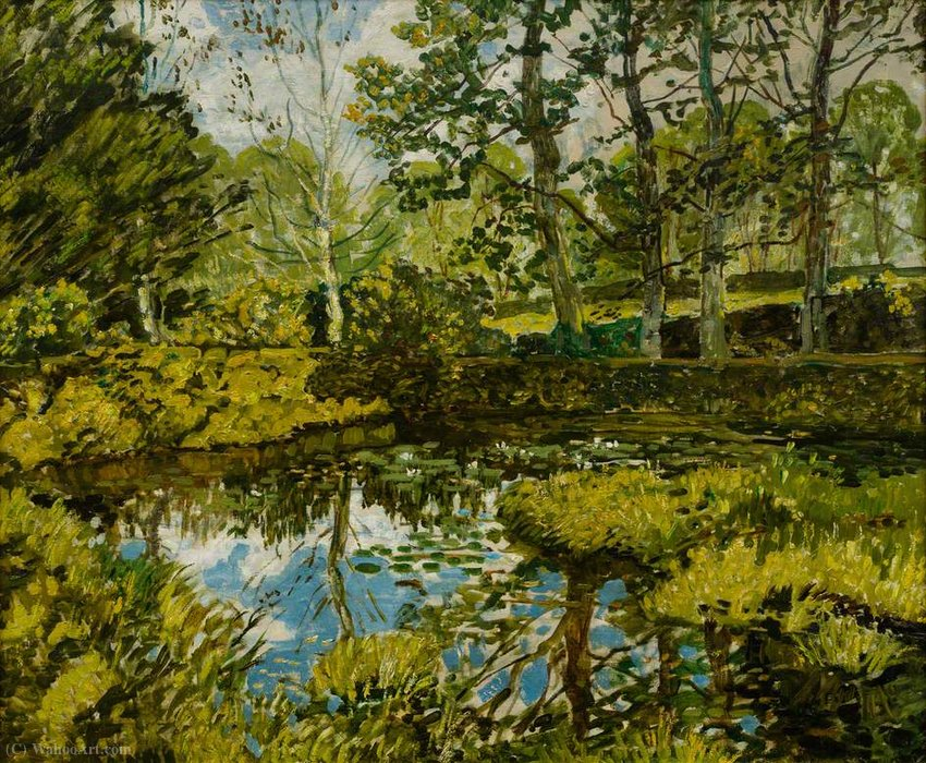 Lily pond, godolphin by Walter Elmer Schofield (1867-1944, United States)