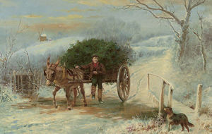 Wilson Hepple - Bringing home the holly