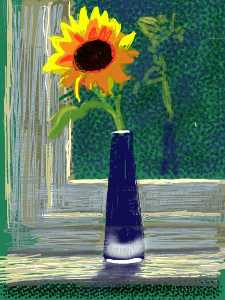 David Hockney - Fresh flowers