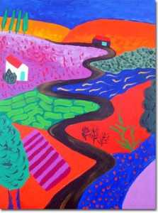 David Hockney - Landscape in Memory