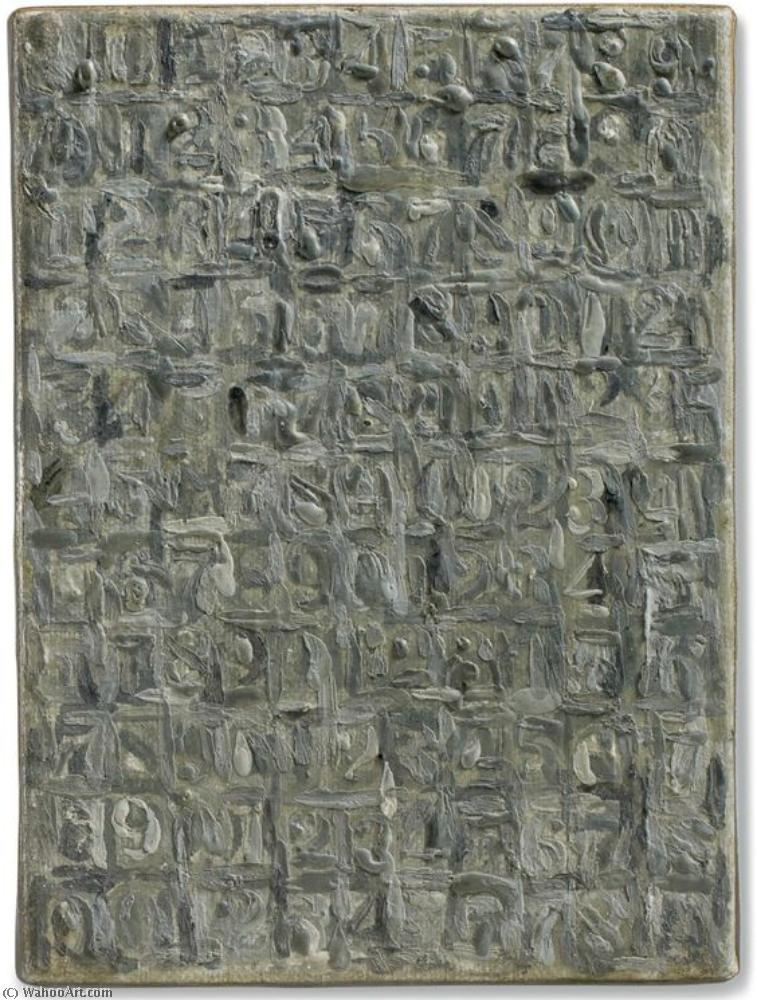 Gray numbers by Jasper Johns | ArtsDot.com