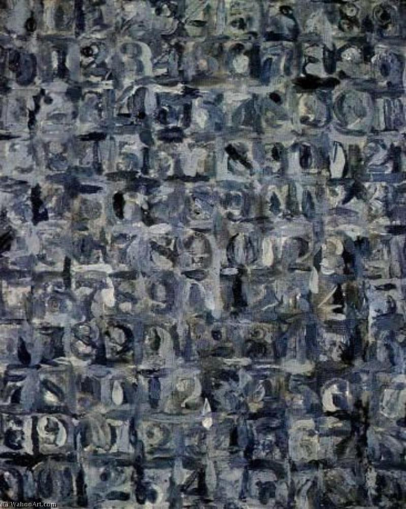 Grey numbers by Jasper Johns