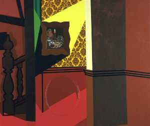 Patrick Caulfield - Interior with a picture