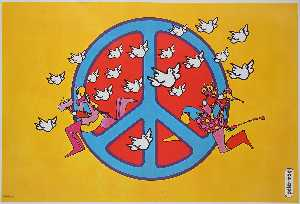 Peter Max - Peace sign
