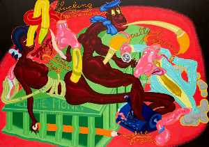 Peter Saul - All the Moneyin Palestine
