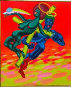 Peter Saul - Bewtiful and Stwong