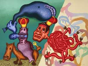 Peter Saul - Neptune and the Octopus P..