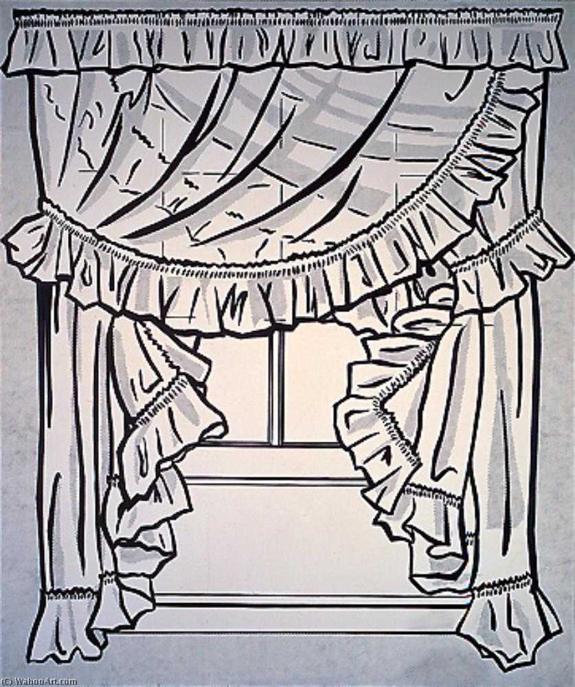 Curtains by Roy Lichtenstein (1923-1997, United States) | Museum Art Reproductions | ArtsDot.com