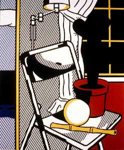Roy Lichtenstein - Interior with cactus